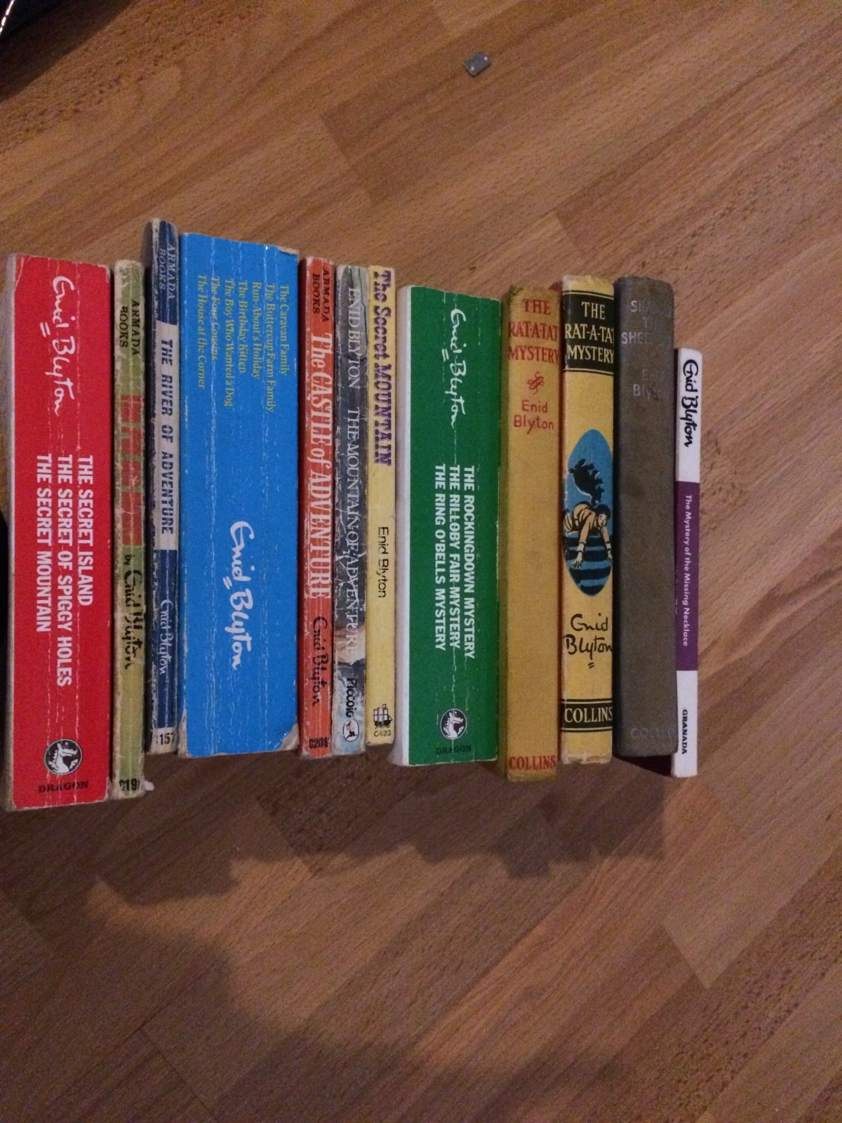Giving a way my Enid Blyton books; must have spent hours of my childhood reading them…