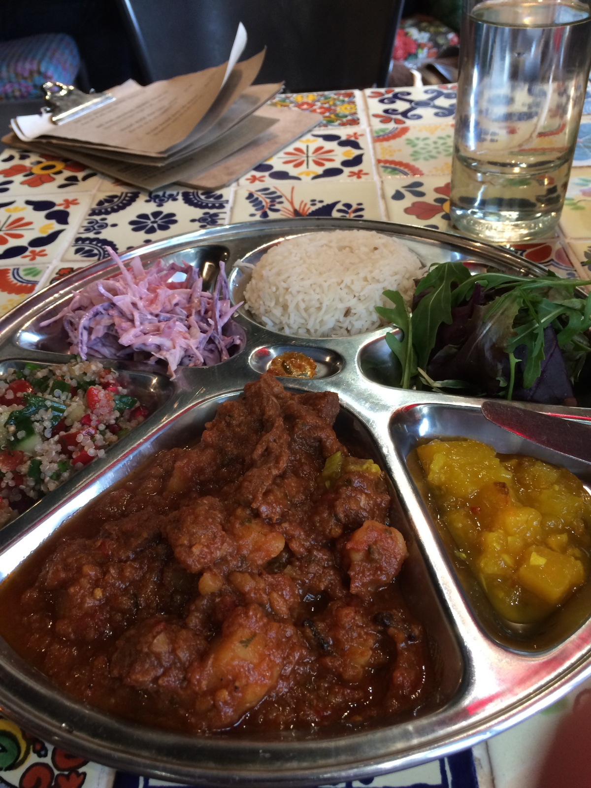 Lunch at Bhaji Cafe, Kelham Island, Sheffield